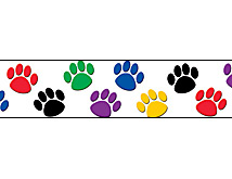 colored paw prints