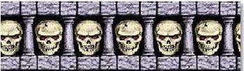 skulls border