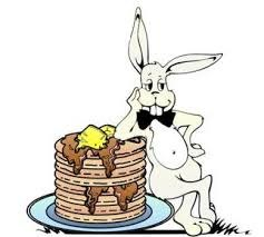 Easter Bunny with pancakes