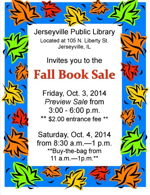Fall Book Sale Flier 2014