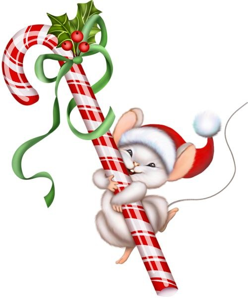 Mouse and Candy Cane