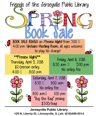 Book Sale Bingo!