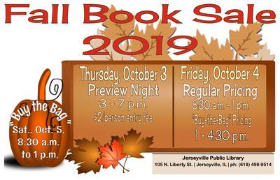 "HUGE Fall Book Sale -- ""Buy the Bag"""