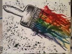 paintbrush crayon art