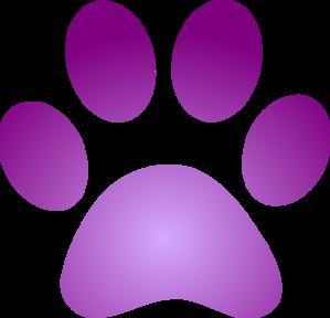 purple paw print