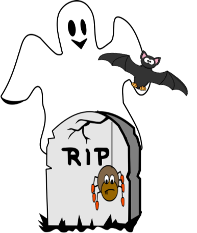 halloween ghost spider and bat.png