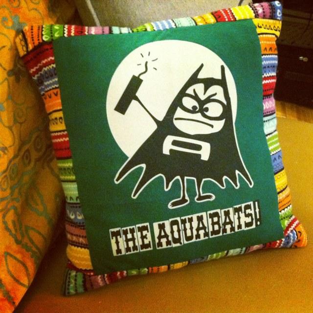 aquabats t-shirt pillow